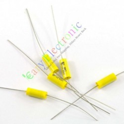 Yellow Long Lead Axial Polyester Film Capacitor 0.01uf 630v Fr Tube Amps