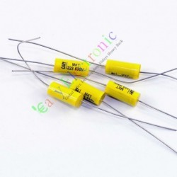 Yellow Long Leads Axial Polyester Film Capacitor 0.022uf 630v for Tube Amps