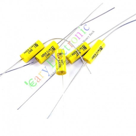 Yellow Long Lead Axial Polyester Film Capacitor 0.047uf 630v for Tube Amps