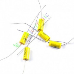 Yellow Long Lead Axial Polyester Film Capacitor 0.082uf 630v for Tube Amps