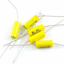 Yellow Long Lead Axial Polyester Film Capacitor 0.47uf 630v for Tube Amps