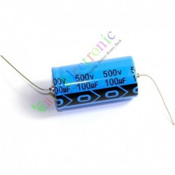 500v 100uf 85c Long Copper Leads Axial Electrolytic Capacitor Audio Amps