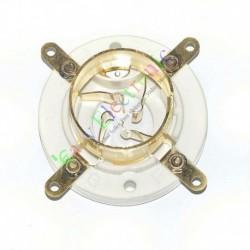 4pin Gold Ceramic Vacuum Tube Socket for Valve Fu5 845 211 805 U4j Audio Amp