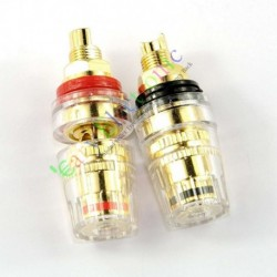 Gold Plated Copper Speaker Cable Amp Binding Post Terminal Plug Tube Audio