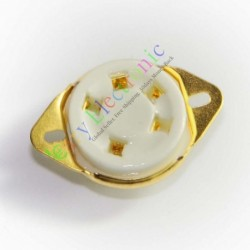 5pin Gold Ceramic Tube Sockets for 807 Valve 5-21 Us Style Base Audio Amps