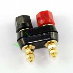 Gold Plated Copper Combine Binding Post Amplifier Terminal for Tube Amp DIY