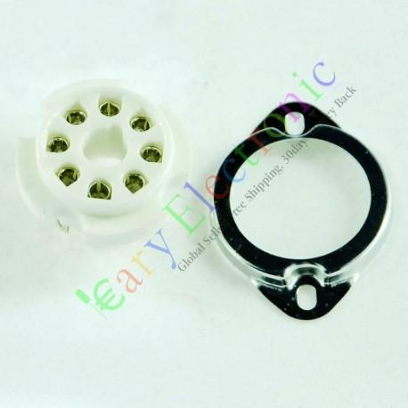 8pin Ceramic Vacuum Tube Sockets Valve Base Fr El34 6ca7 6550 Kt88 6sn7 6l6