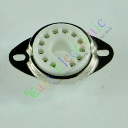 12pin Ceramic Vacuum Tube Sockets Top Mount Base Valve for 50ca10 Radio Amp