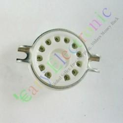 12pin Ceramic Vacuum Tube Socket Top Mount Valve Fr 9mn8 8ac9 8cb11 6ge5 Amp