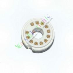 12 PIN Gold Ceramic PCB Vaccum Tube Socket for 50ca10 Audio Tube Amp Parts