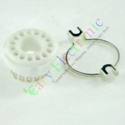 14pin Ceramics Vaccum Tube Socket Base Saver Audio Tube Amp Radio Diy Parts
