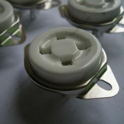 Audio Amp 4pin Ceramic Vacuum Tube Socket Silver Pin Plated for 300b 2a3
