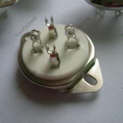 4pin Ceramic Vacuum Tube Socket Top Mount Valve for 300b 2a3 Audio Amps