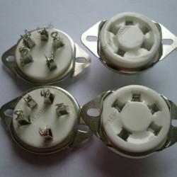 5pin Ceramic Tube Sockets for 807 Valve 5-21 Us Style Base Audio Amps