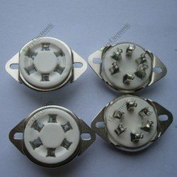 6pin Silver Ceramic Vacuum Tube Socket Top Mount Valve Fr 310 366 Audio