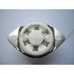 6pin Ceramic Vacuum Tube Socket Top Mount Valve Fr 310 366 Audio Amp DIY