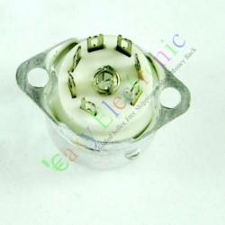 Mini 7pin Ceramic Vacuum Tube Sockets Valve Base for Aee91 Ec92 Audio Amps