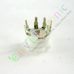 Mini 7pin PCB Ceramic Vacuum Tube Sockets Valve Base 12ae6 6at6 6bk6 12av6