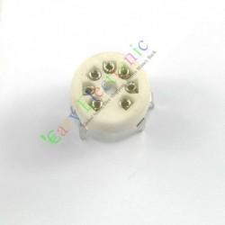 Mini 7pin PCB Ceramic Vacuum Tube Sockets Valve Base 12ae6 6at6 6bk6 Radio