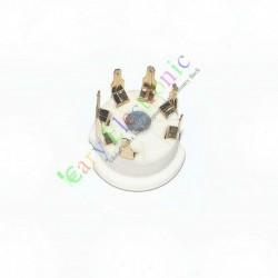 Gold 7pin PCB Ceramic Vacuum Tube Sockets Valve Base 12ae6 6at6 6bk6 12av6