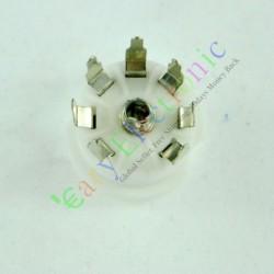 Mini 7pin PCB Ceramic Vacuum Tube Sockets Valve Base 12ae6 6at6 12av6 Audio