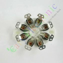 8pin Ceramic Vacuum Tube Sockets Valve Base Fr Kt88 El34 6550 6sn7 Audio Amp