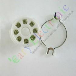 8pin Ceramic Vacuum Tube Socket Octal Valve Base Fr El34 Kt88 6550 6sn7 6l6g