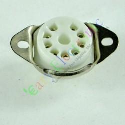 9pin Mini Ceramic Vacuum Tube Socket Valve Base for 12ax7 12au7 Ecc83 Ecc82