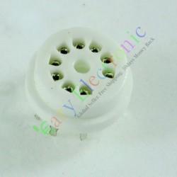 9pin PCB Ceramics Vaccum Tube Socket Saver for 12au7 12ax7b Ecc83 6d58 Radio