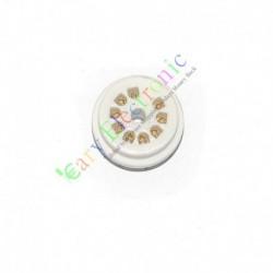 9pin PCB Gold Ceramics Vaccum Tube Socket for 12au7 12ax7b Ecc83 6d58 Radio