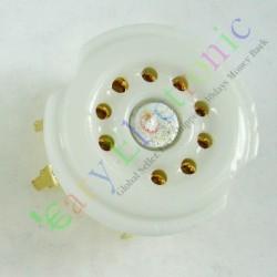 Gold 9pin PCB Ceramic Vacuum Tube Socket Gilded Valve Base 12ax7 12au7 Ecc83