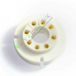 8pin Gold Ceramic Vacuum Tube Sockets Valve Base Fr Fu50 Gu50 Lv3 5u8c Fu15
