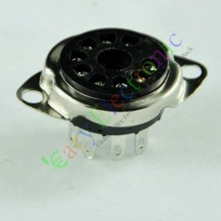 9 PIN Vaccum Tube Socket Saver Mount Fr 12ax7 12au7 Ecc82 Ecc83 Radio Parts