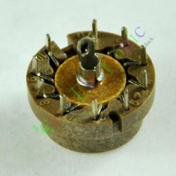 10pin Bakelite Vacuum Tube Sockets Valve Base for D9j2 Radio Amps Diy Parts