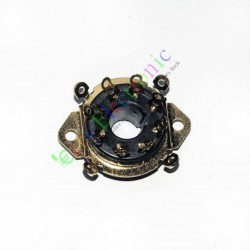 8pin Gold Bakelite Vacuum Tube Socket Octal Valve Chassis El34 Kt88 6550 6sn7