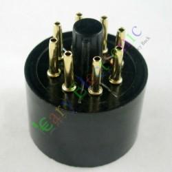 Gold 8pin Bakelite Tube Socket Valve Base Triode Rectifier Fr Kt88 El34 6550