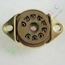 9pin Bakelite Vacuum Tube Socket Valve Base 12ax7 12au7 Ecc83 6n11 Audio Amp