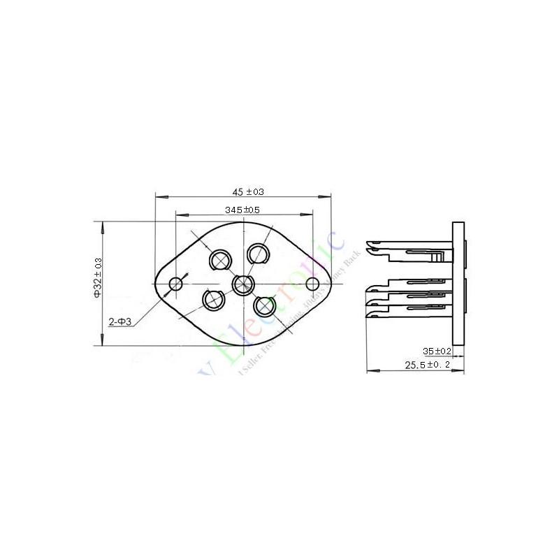 5 pin ceramicsc shuguang vaccum tube socket saver audio