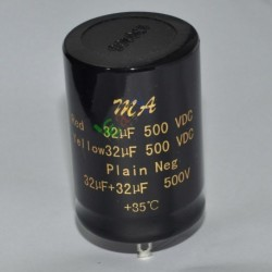 500v 32uf+32uf Can Eelectrolytic Capacitors for Tube Audio Amp DIY Parts