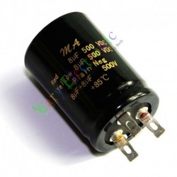 500v 8uf + 8uf 85c Can Eelectrolytic Capacitor for Tube Amp Audio Part