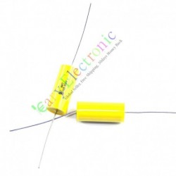 Long Copper Leads Yellow Axial Polyester Film Capacitor 1.0uf 630v for Amps