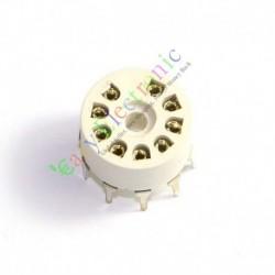 9 Pin Plastic Tube Socket PCB Mount B9a Base Tube Amp for 12ax7b 12au7 Diy