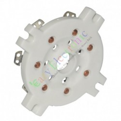 7Pin Silver copper Ceramic vacuum Tube sockets audio amp guitar DIY parts
