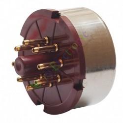 8Pin Red Gold Bakelite Vacuum Tube sockets base For 6L6 EL34 KT88 audio amp