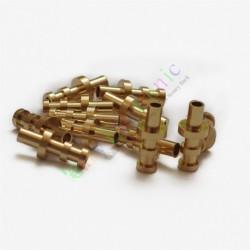 copper plated Gold Turret Lug for 3MM Fiberglass Terminal Tag Board Audio