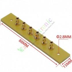 copper plated Gold Fiberglass Turret Terminal Strip 6pin Lug Tag Board amp