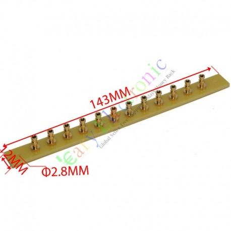 copper plated Gold Fiberglass Turret Terminal Strip 12pin Lug Tag Board amp