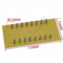 copper plated nickel Fiberglass Turret Terminal Strip 16pin Lug Tag Board