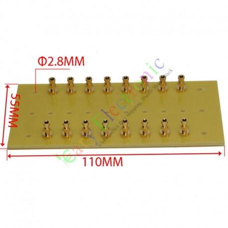 copper plated Gold Fiberglass Turret Terminal Strip 16pin Lug Tag Board amp