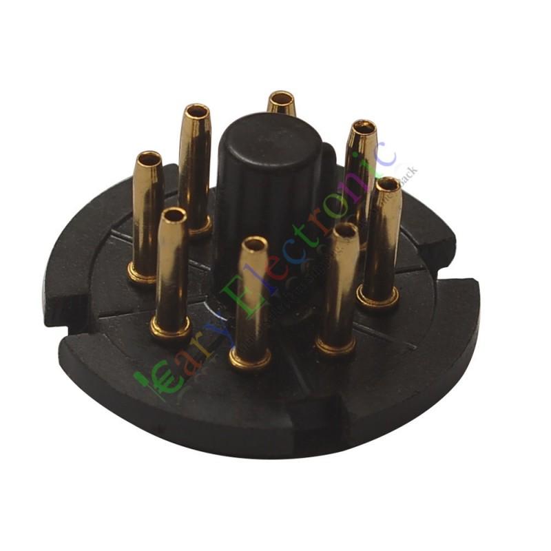 8Pin Gold Bakelite Tube Socket Plug Base Testing for EL34 6SN7 KT88